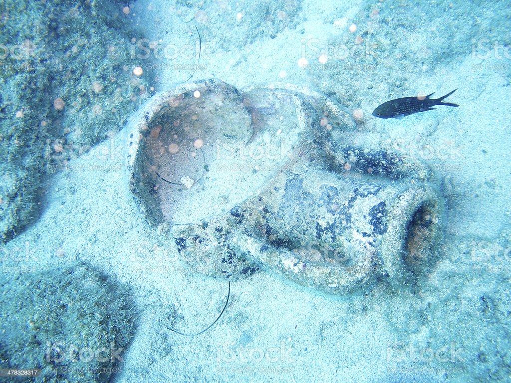underwater scenery with amphora royalty-free stock photo