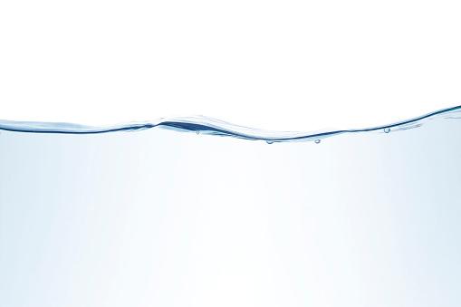 Underwater splashes isolated on white