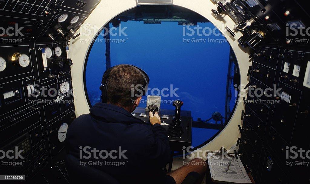Underwater Submarine stock photo