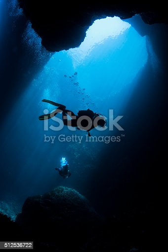 A scuba diver in Malta