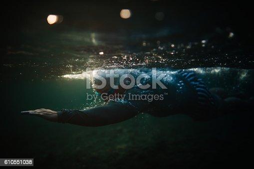 istock Underwater swimming 610551038