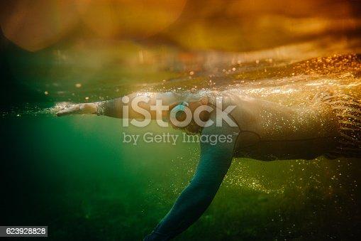 istock Underwater swimming 623928828