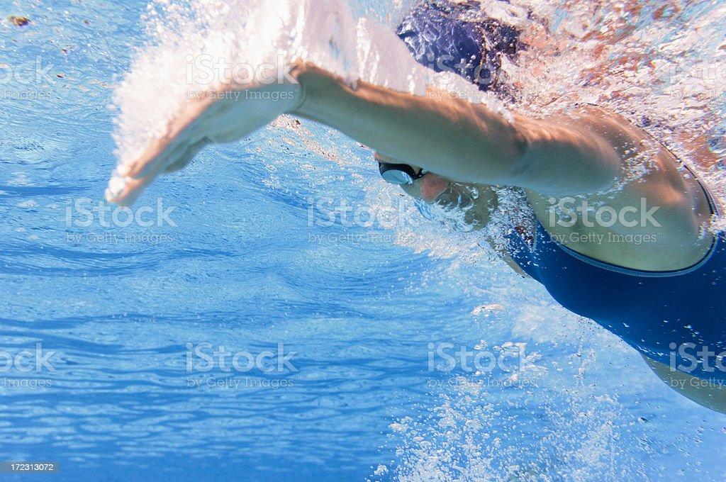 Underwater swimming stroke stock photo