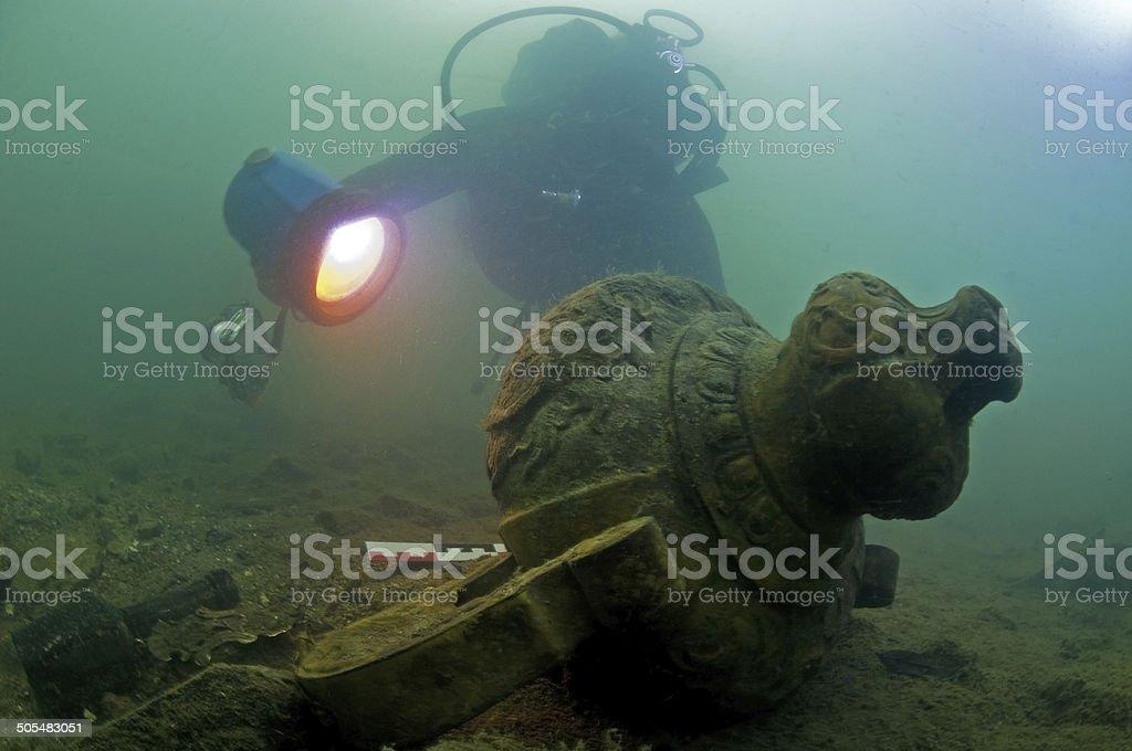 Amphore trésors sous-marine - Photo