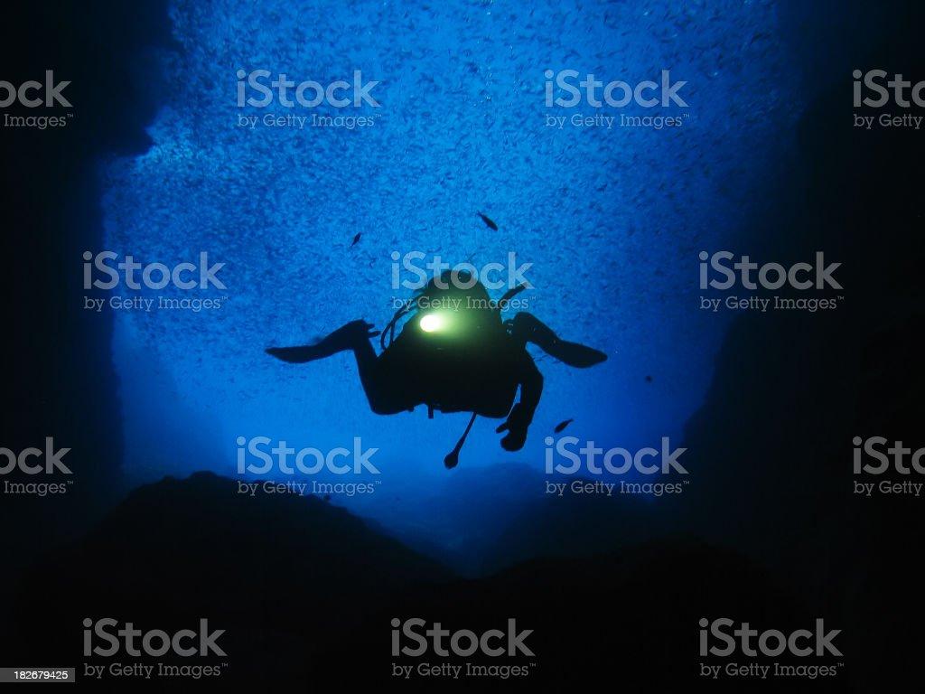 Underwater UFO royalty-free stock photo