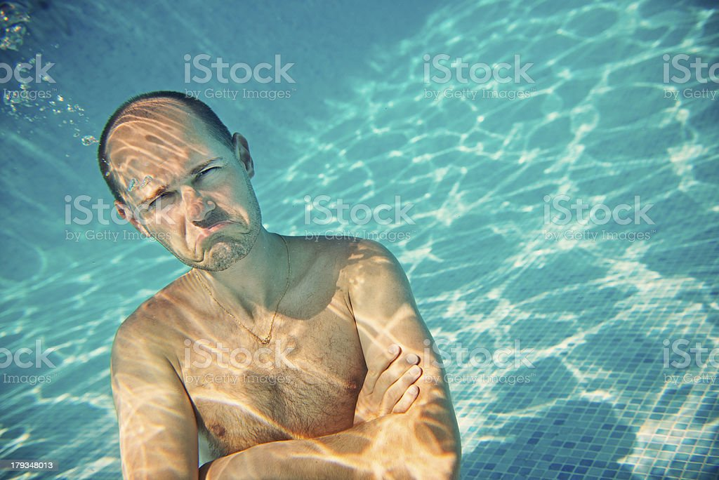 Underwater Unhappiness royalty-free stock photo