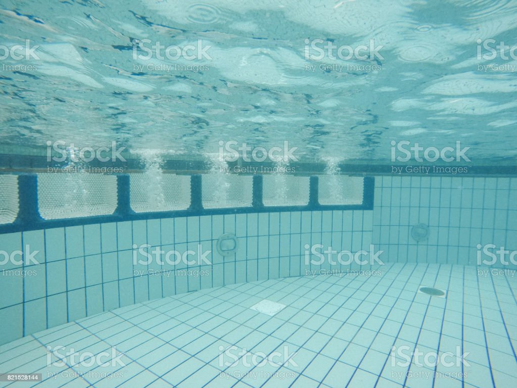 Underwater View Of Clean Swimming Pool Massage Seat With Air Bubbles Stock  Photo - Download Image Now