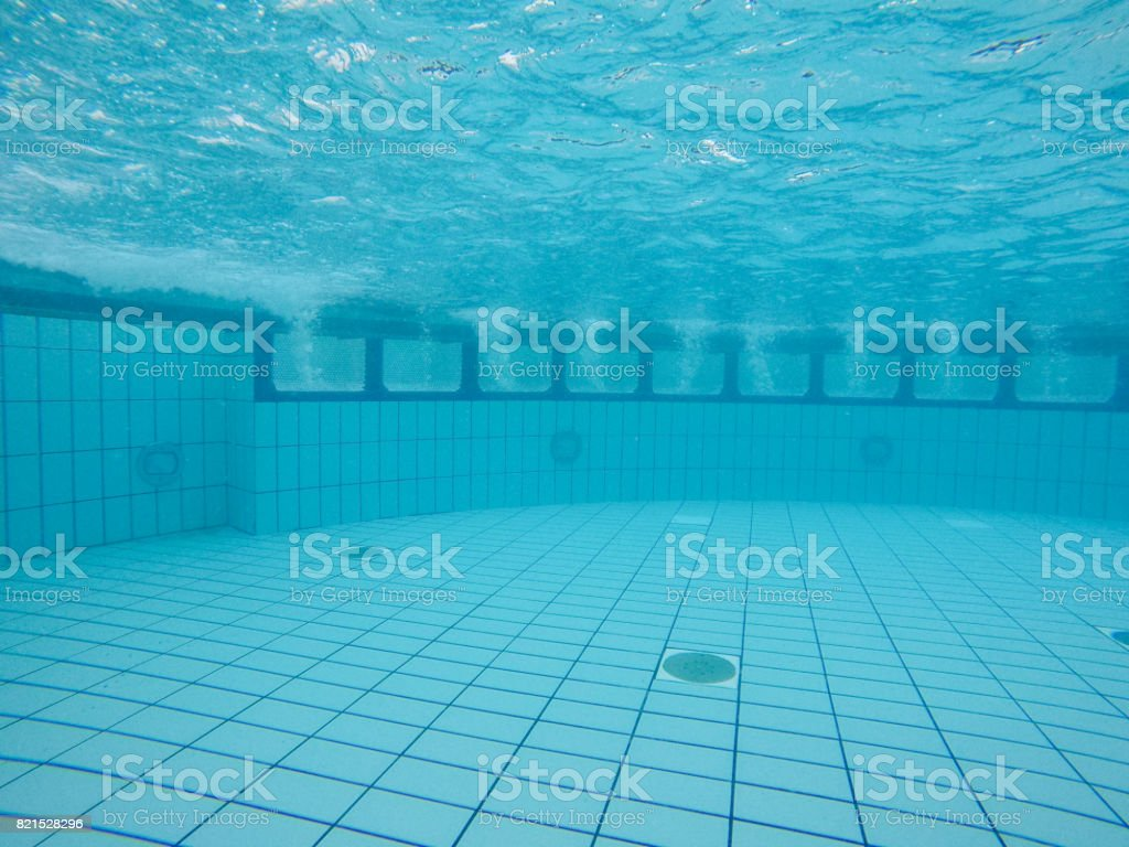 Underwater View Of Clean Swimming Pool Stock Photo ...