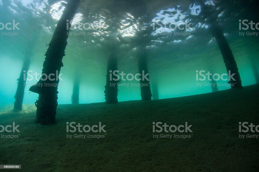 Underwater View of Jetty in Indonesia Стоковые фото Стоковая фотография