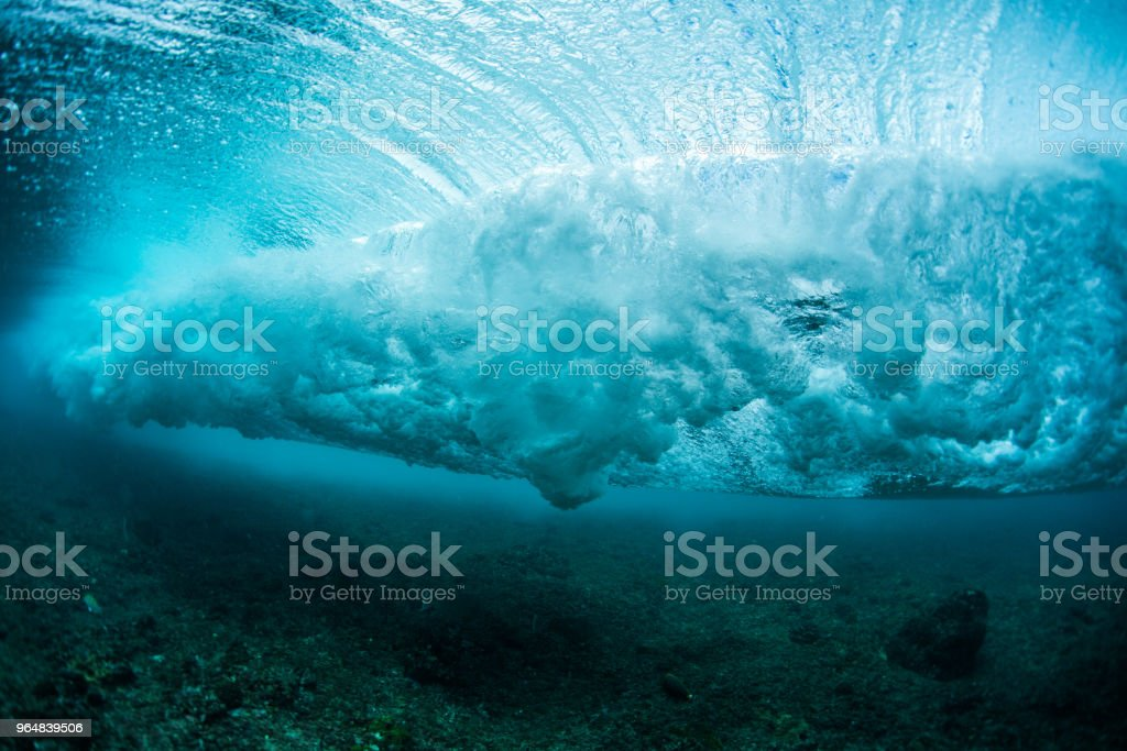 Underwater view of the ocean wave royalty-free stock photo