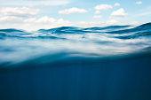 Idyllic summer view from underwater.