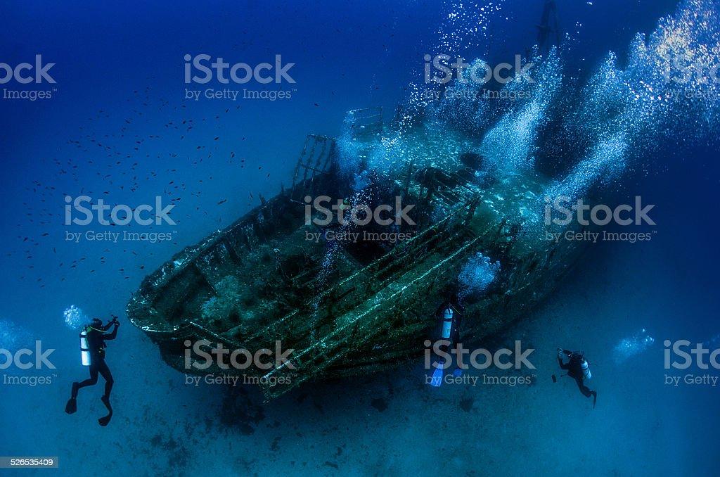 Underwater Wreck stock photo