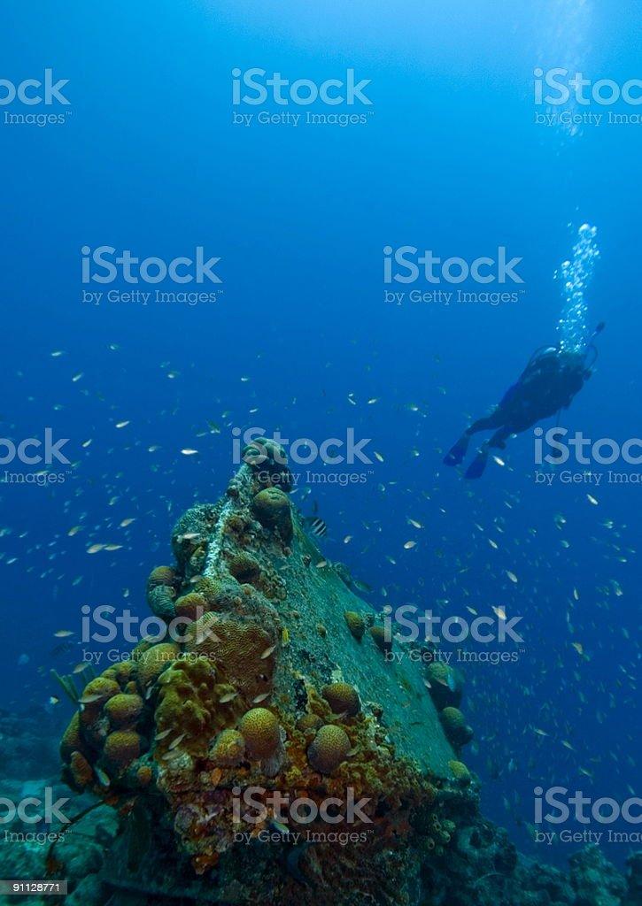 Underwater wreck royalty-free stock photo