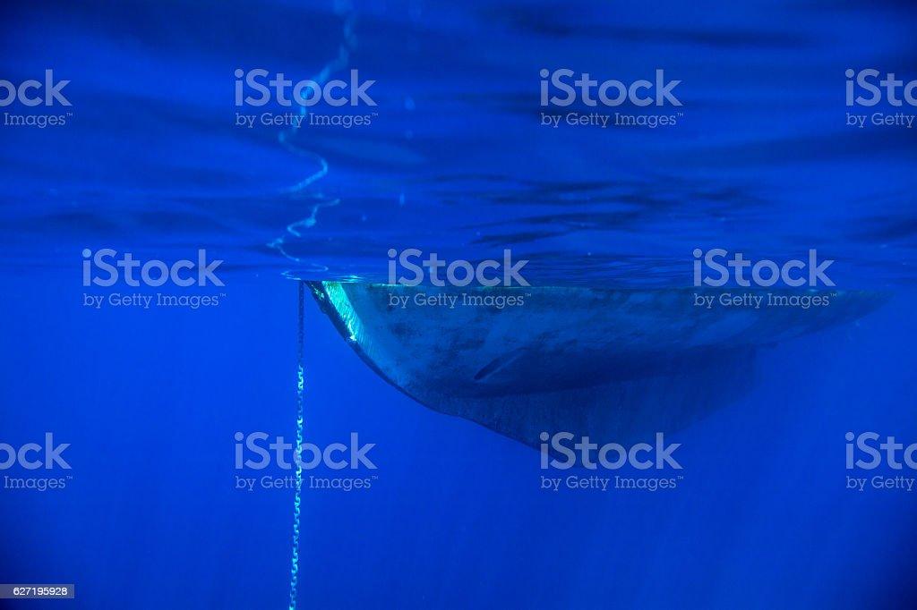 underwater yacht background – Foto