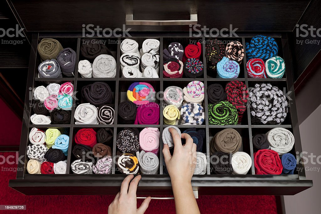 underwear drawer stock photo