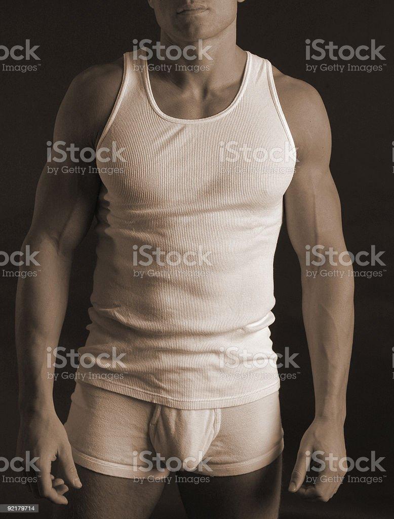 Underwear model stock photo