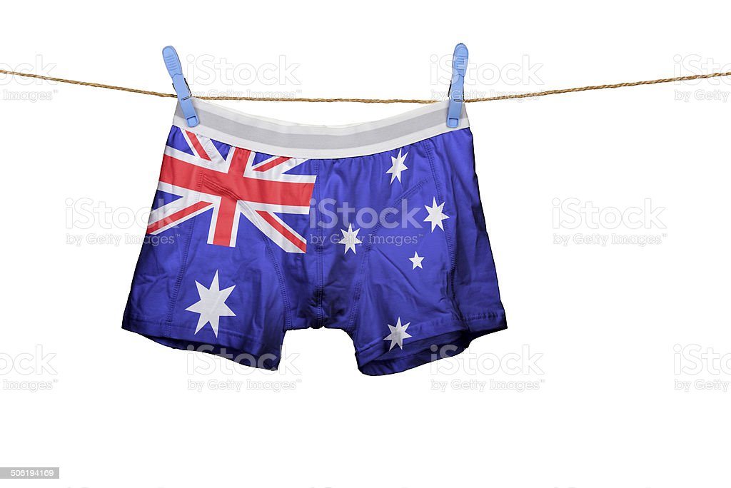 Underwear with the Australia flag on a string stock photo