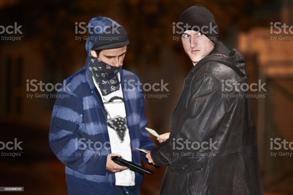 Underworld dealings stock photo