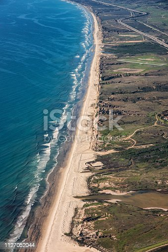The Southern California coastline between San Diego and Orange Counties remains one of the only extended coastal areas undeveloped in the region due to the land being on Camp Pendleton, a United States Marine Base.