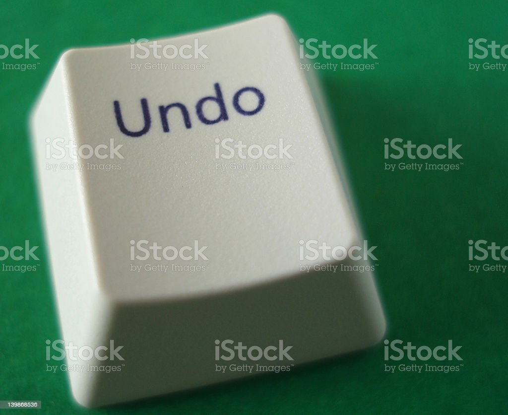 Undo Key stock photo