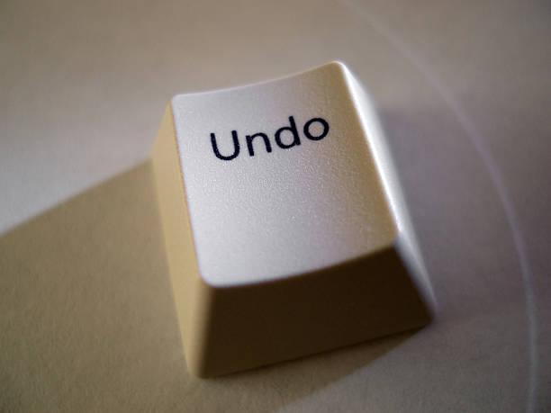Undo Key stock photo