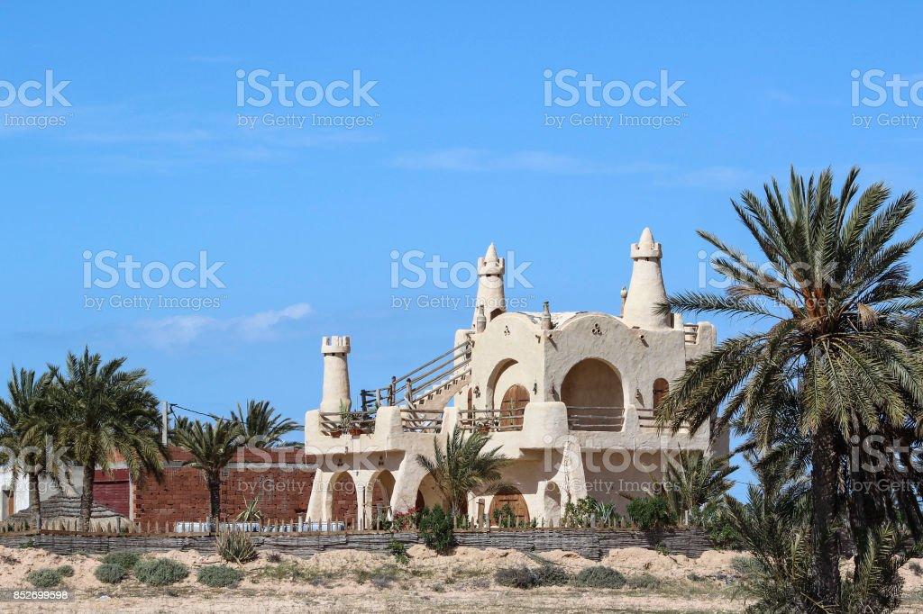 Une maison Bizarre, Djerba, Mednine Tunisie stock photo