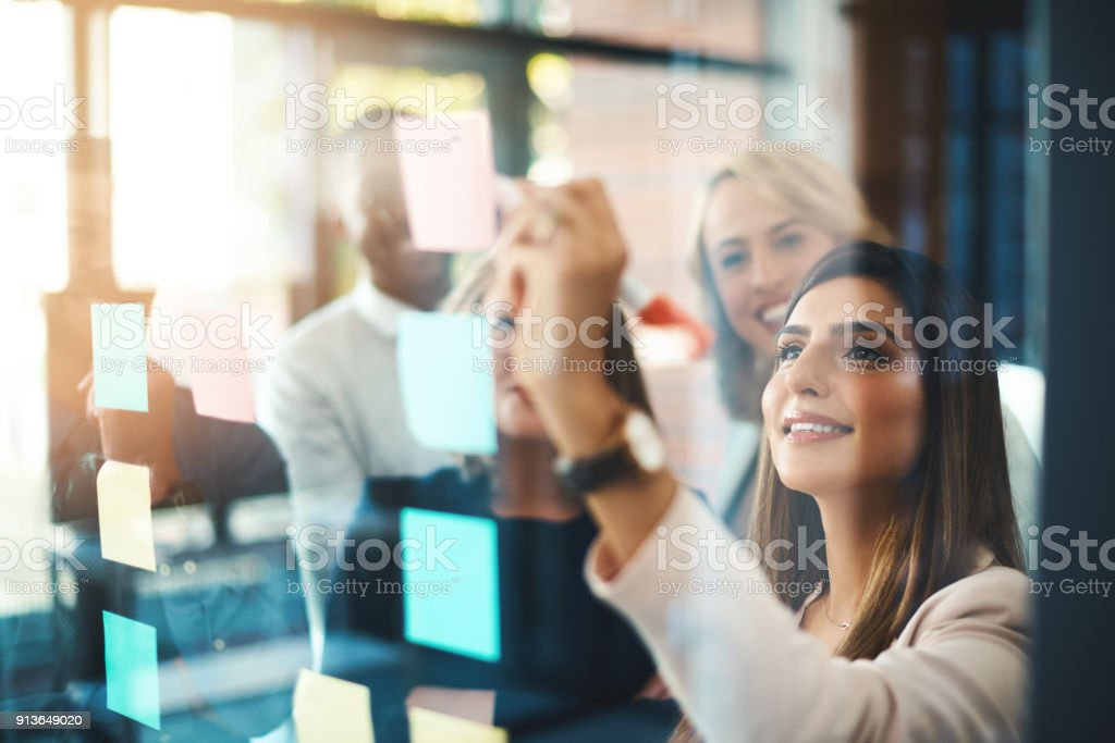 Unearthing brilliant new ideas for business stock photo