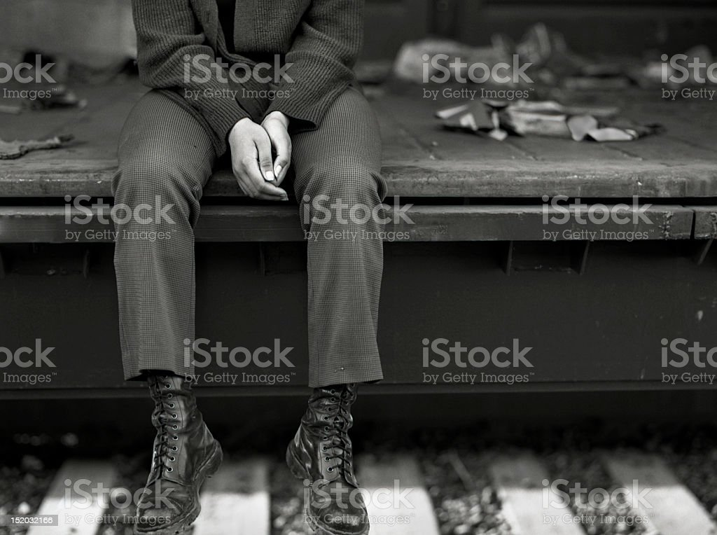 unemployed and homeless stock photo