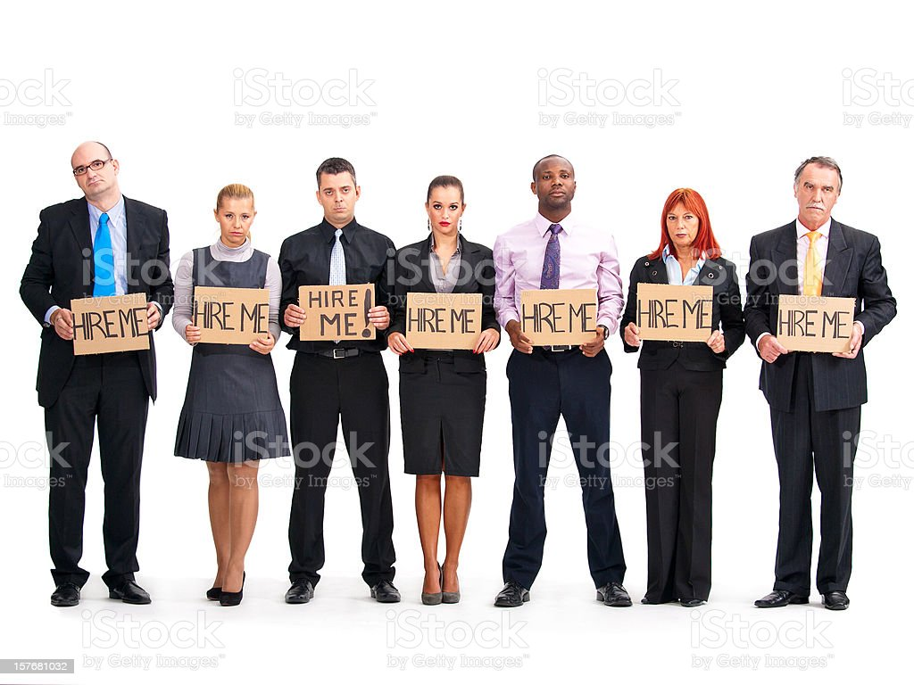Unemployed Business People stock photo