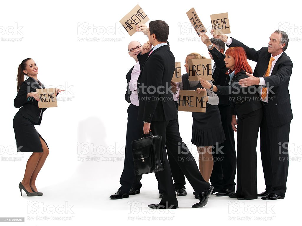 Unemployed Business People royalty-free stock photo