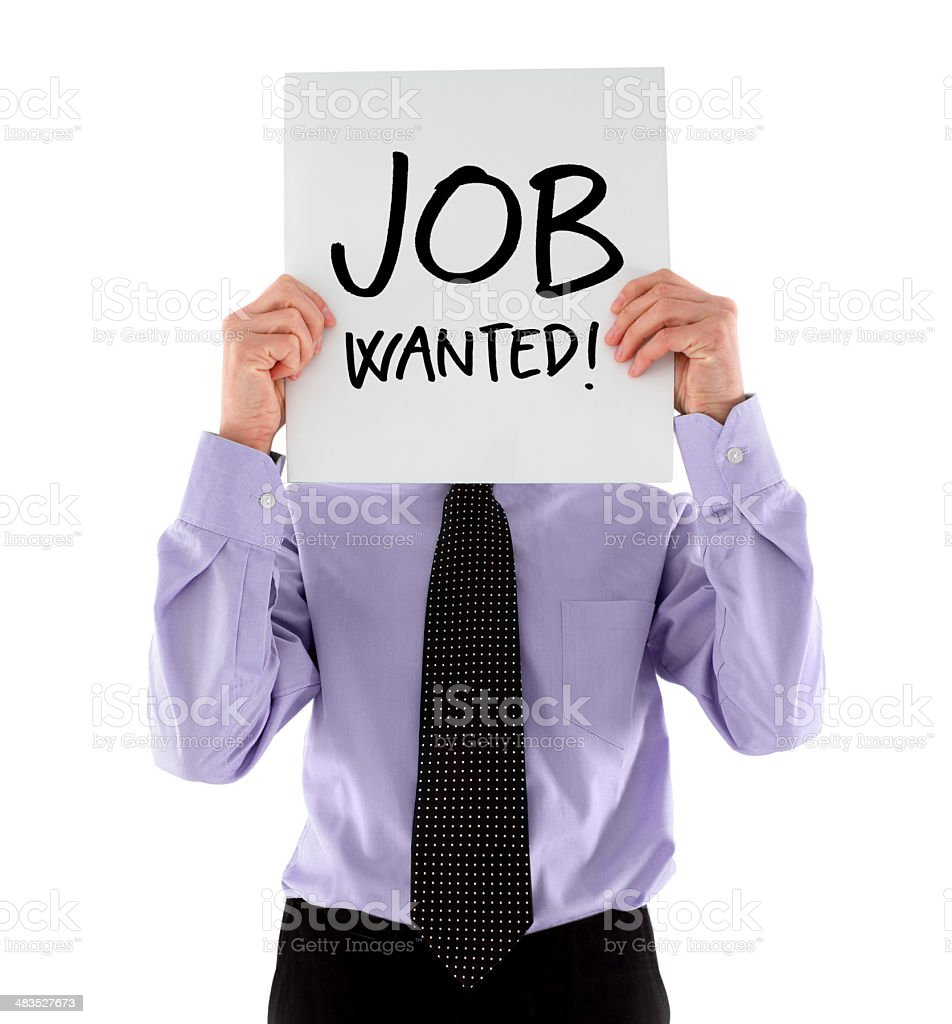 Unemployed Businessman royalty-free stock photo