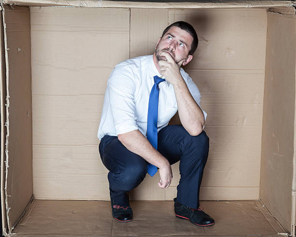 Unemployed devises a plan of action stock photo