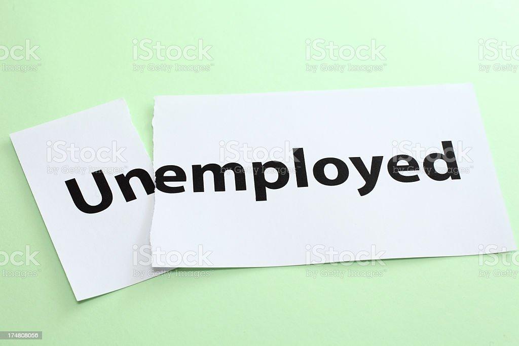 unemployed, employed royalty-free stock photo