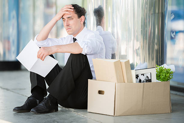 unemployed man - unemployment stock pictures, royalty-free photos & images