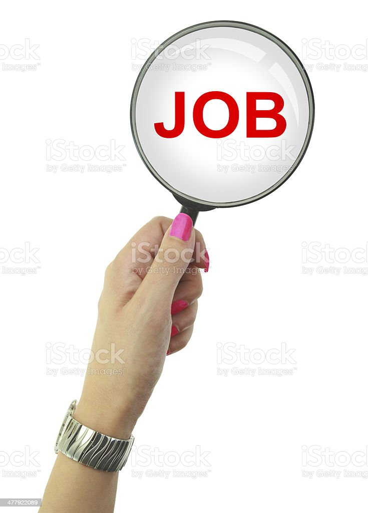 Unemployed woman looking for a Job royalty-free stock photo