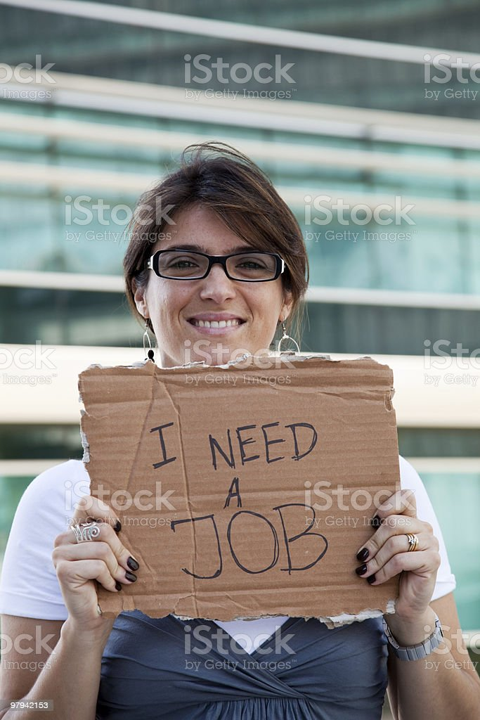 Unemployed woman royalty-free stock photo