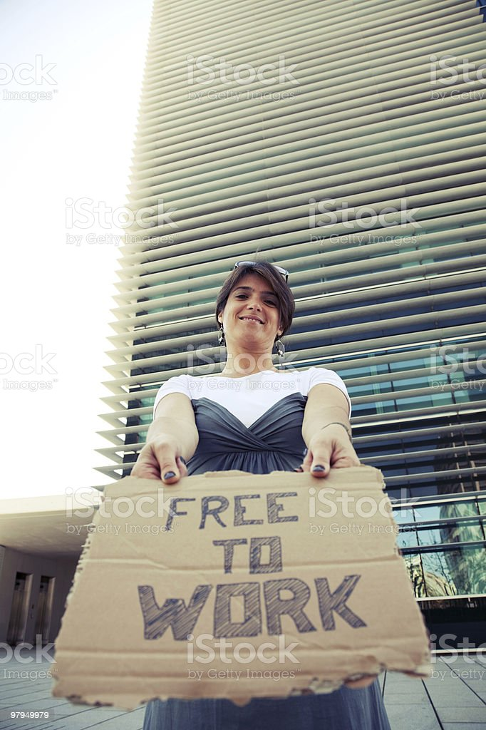 Unemployed woman royalty-free stock photo