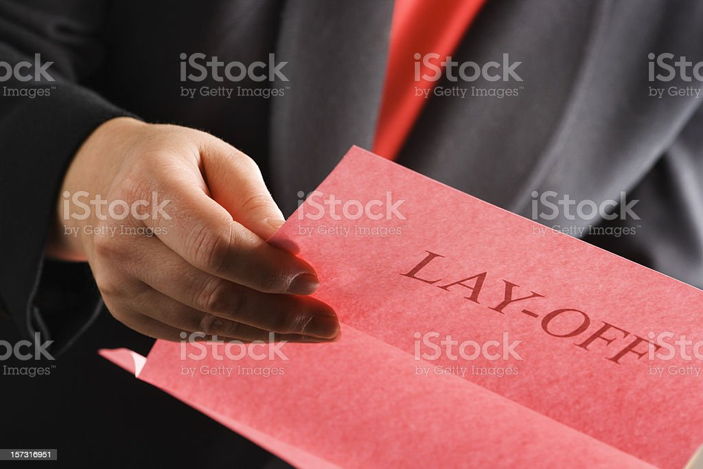 Unemployment and Job Search due to Downsizing Layoff and Firing stock photo