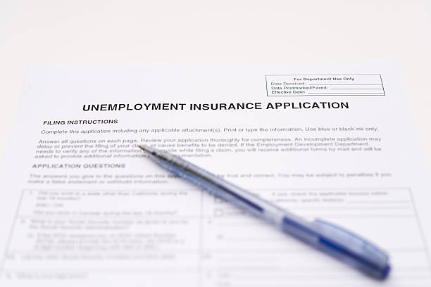 unemployment insurance application - unemployment stock pictures, royalty-free photos & images