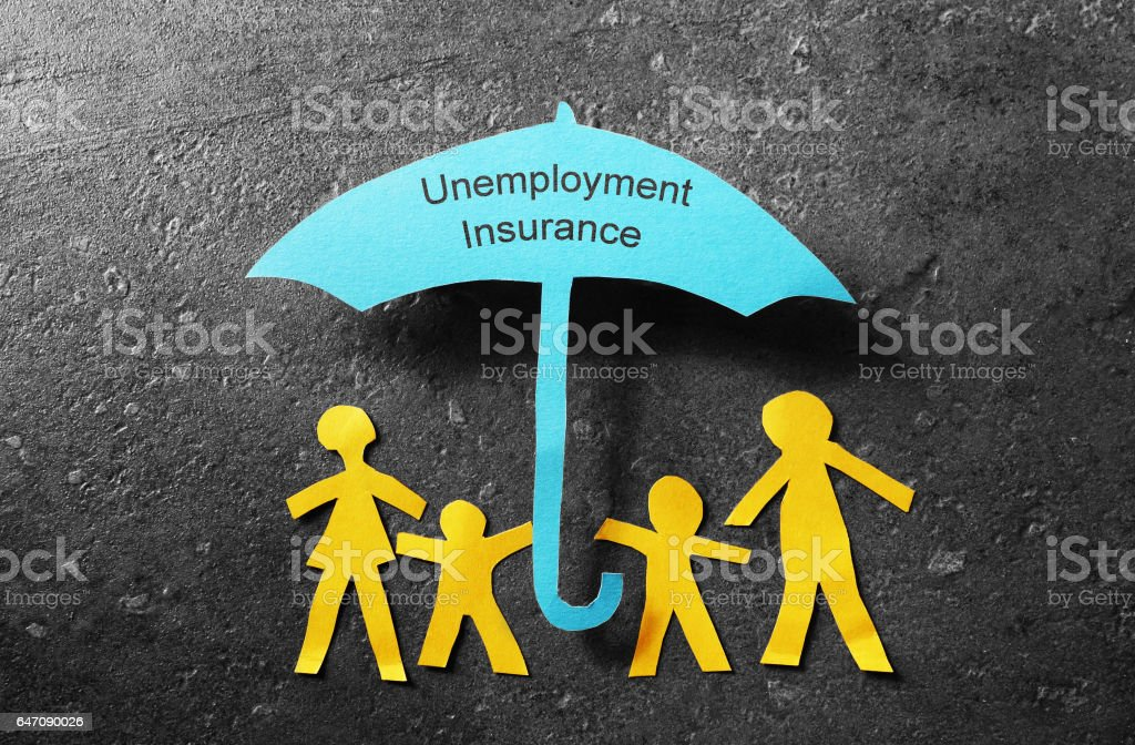 Unemployment Insurance umbrella stock photo