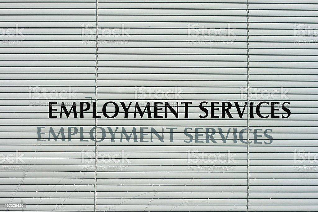 Unemployment Office Window - United States royalty-free stock photo