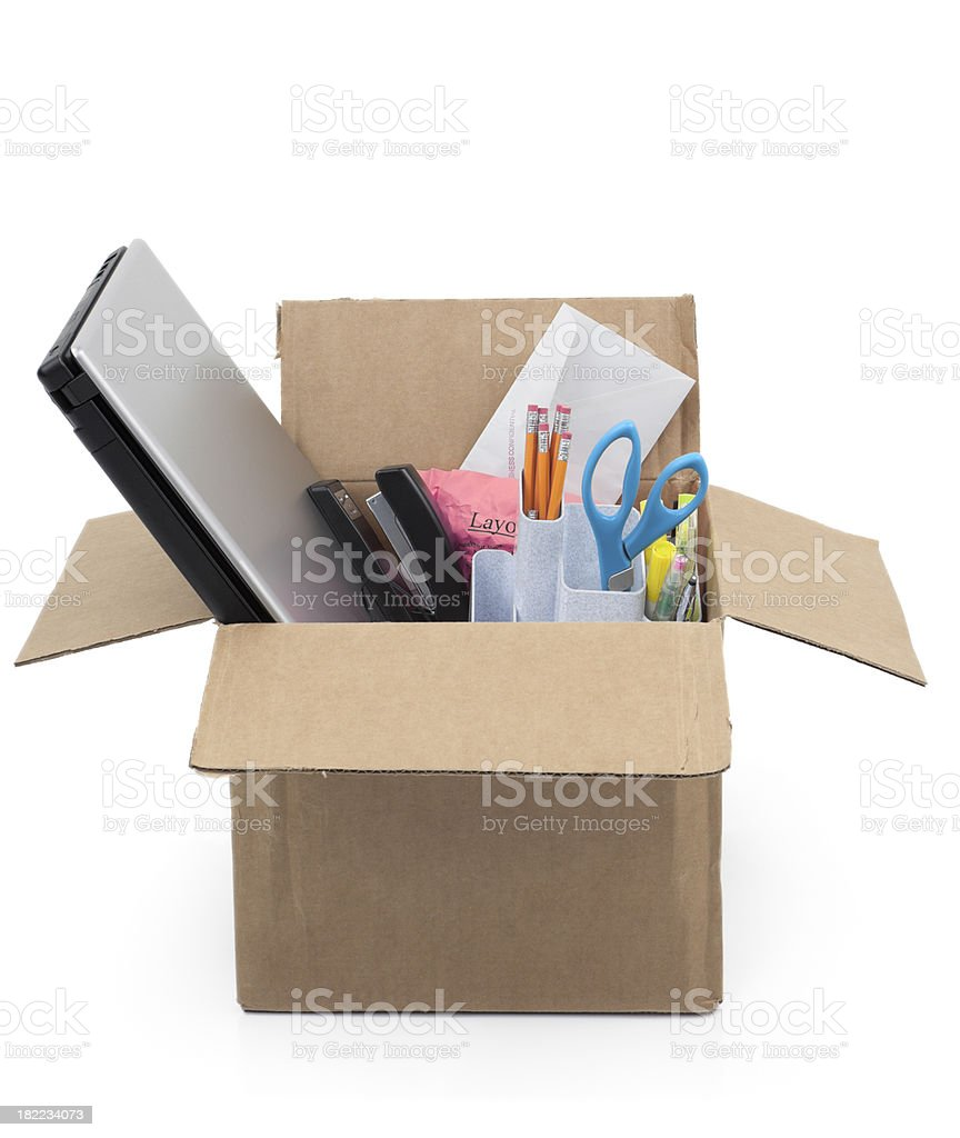 Unemployment or Downsizing Concept royalty-free stock photo
