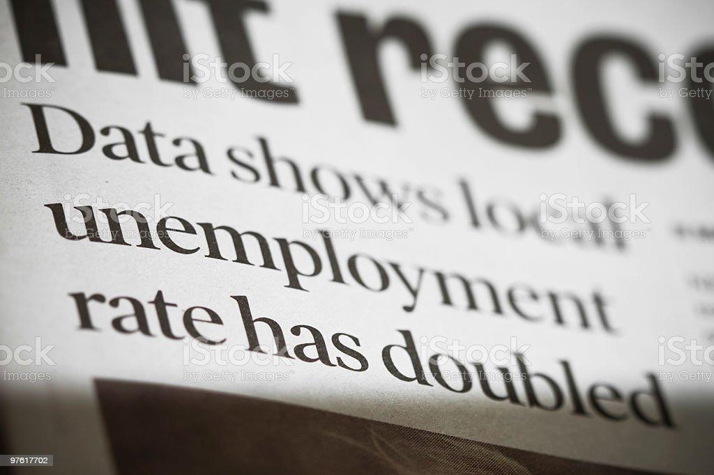 Chômage photo libre de droits