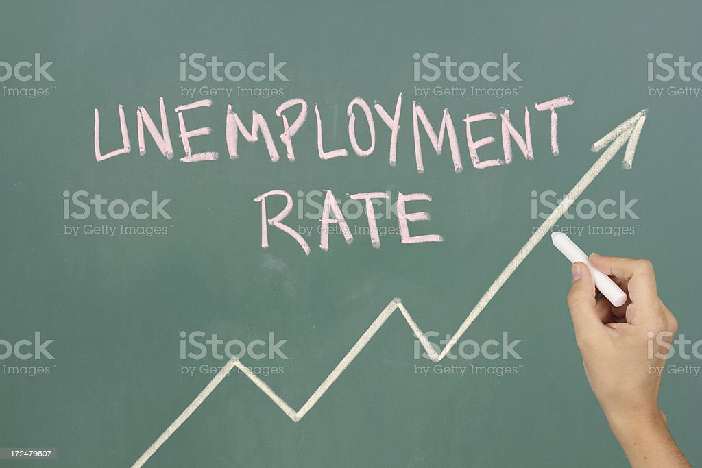 Unemployment rate royalty-free stock photo