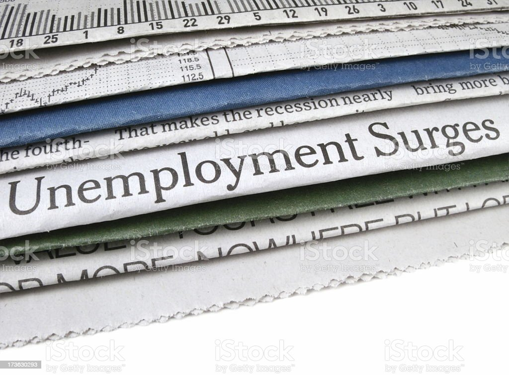 Unemployment Surges royalty-free stock photo