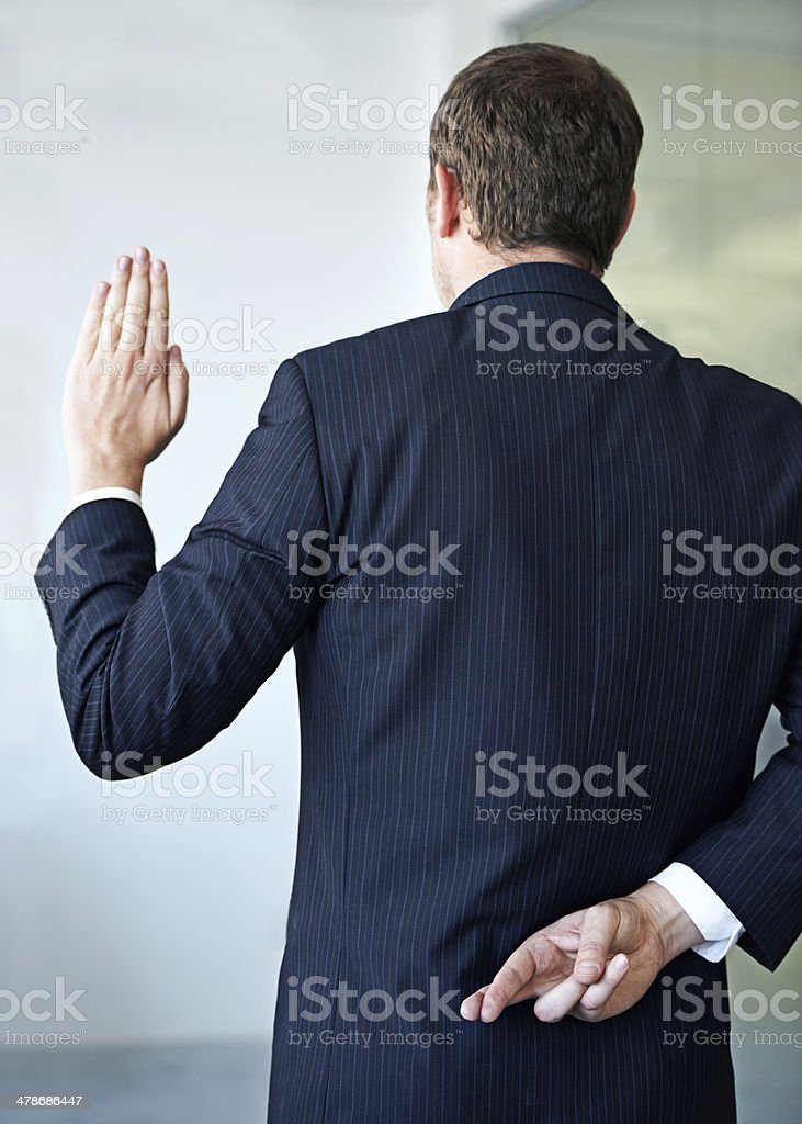 Unethical business practices stock photo