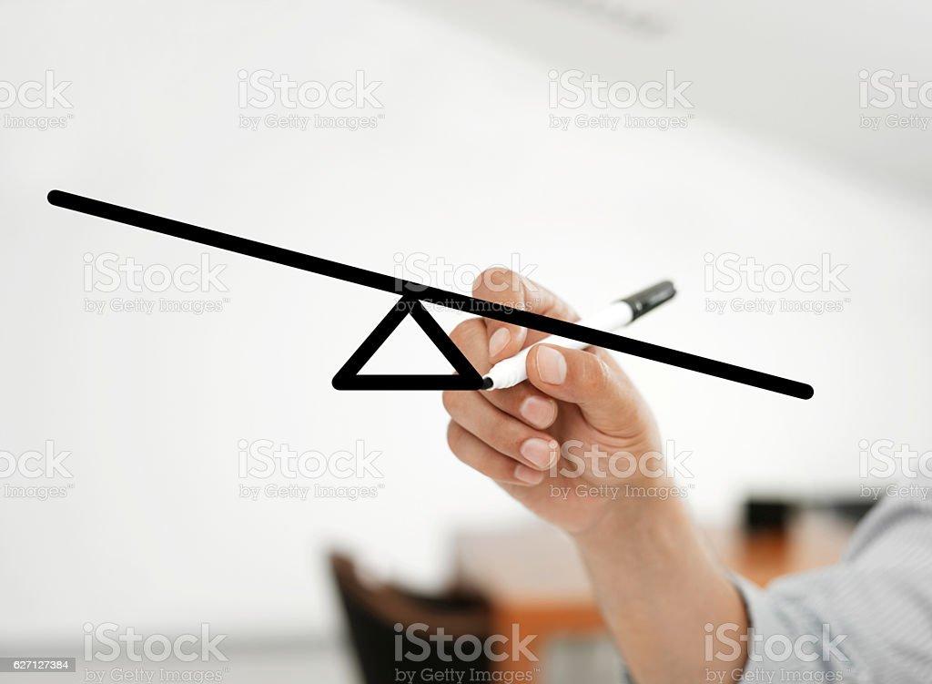 uneven balance bar stock photo