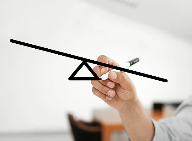 uneven balance bar - uneven stock photos and pictures