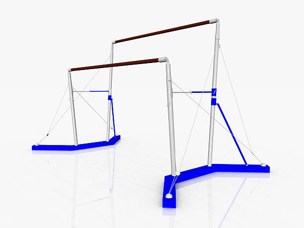 uneven bars - uneven parallel bars stock photos and pictures