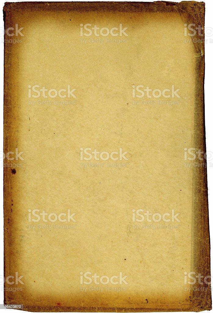 Uneben braunes Papier mit dunklen Kanten Lizenzfreies stock-foto